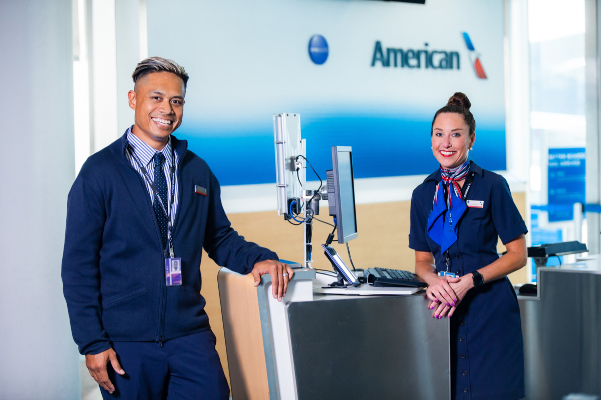 American Airlines Gate Agents